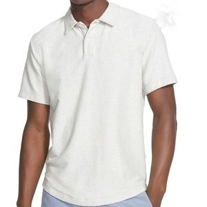 Onia Alec Reversed Terry Polo in Heather Grey